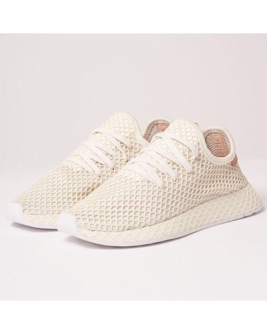 new style 21bd1 a2c95 Adidas Originals - Deerupt Runner - Cloud White, Ash Pearl  Ftwr White for  Men ...