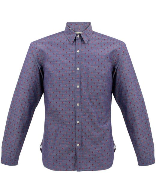Oliver Spencer - Blue New York Special Aldford Chambray Shirt for Men - Lyst