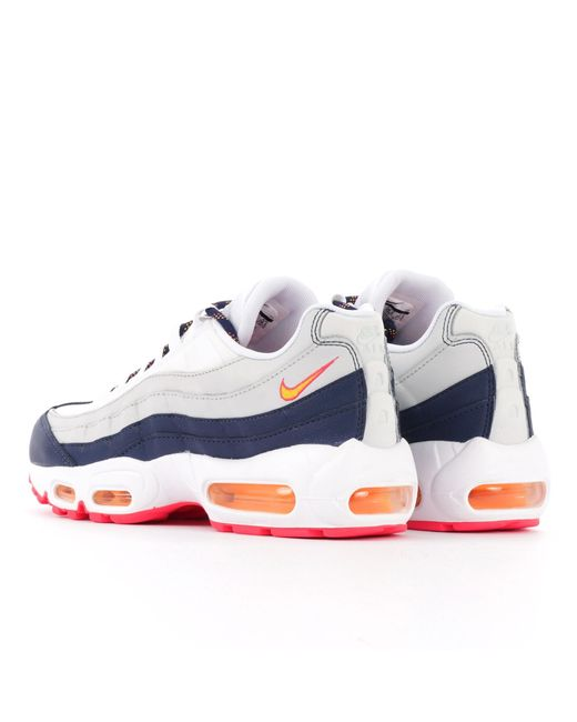 c4b62f256a07 Lyst - Nike Air Max 95 - Midnight Navy   Laser Orange in Blue for Men