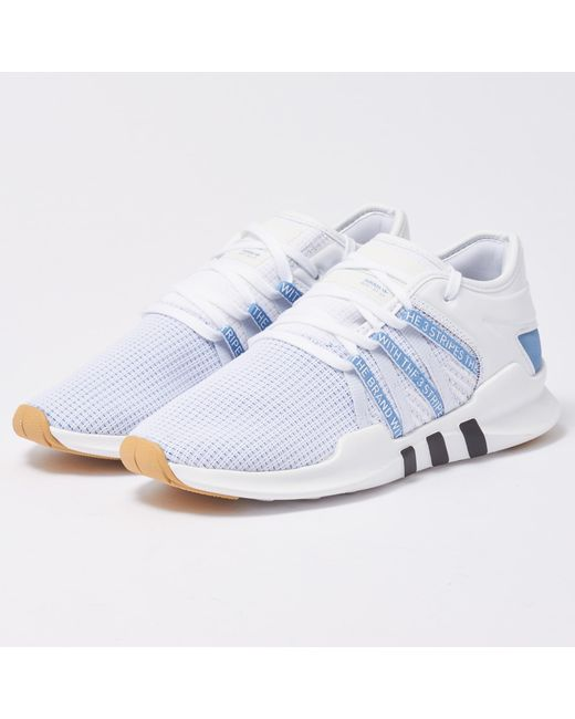 Lyst - adidas Originals Eqt Adv Racing Shoes W - White   Ash Blue in ... 74240bf6d15d