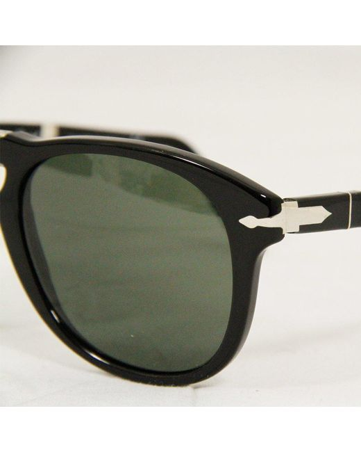 68259b65ee1 ... Persol - 714 Foldable Sunglasses- Black for Men - Lyst ...