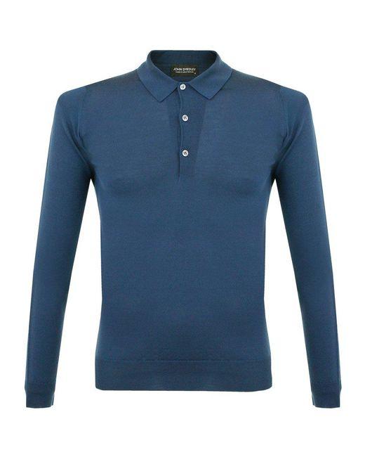 John Smedley - Blue Tyburn Deep Teal Ls Polo Shirt for Men - Lyst