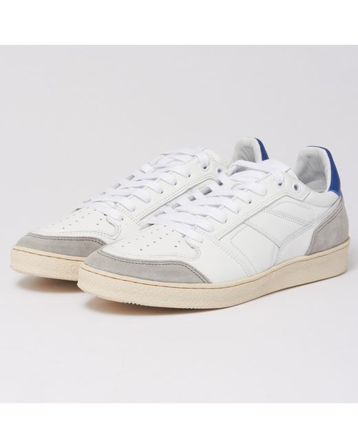 AMI - Blue White Thin Low Trainers for Men - Lyst
