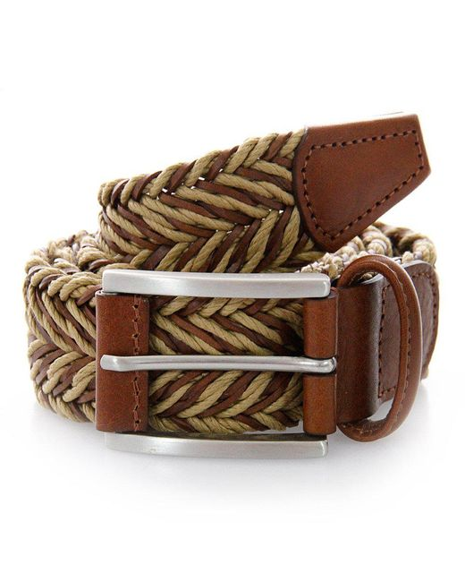 Andersons - Anderson Belts Twine Braided Sand Brown Belt for Men - Lyst