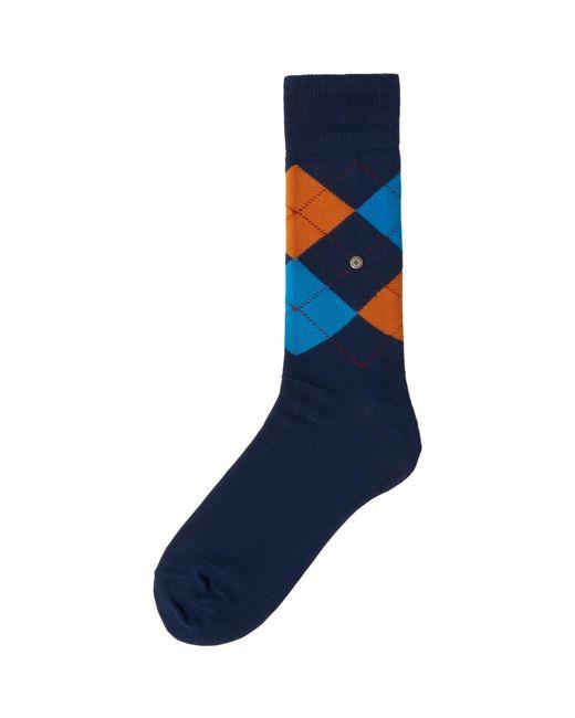 Burlington Manchester Socks - Blue & Aqua for men