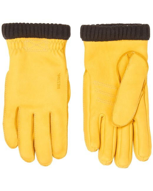 Hestra Natural Yellow Primaloft Deerskin Gloves 20210-400 for men