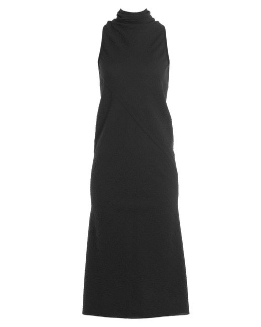 Rick Owens - Black Crepe Dress With Wool - Lyst