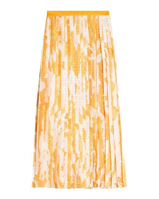 Jil Sander Navy - Multicolor Pleated Skirt - Lyst