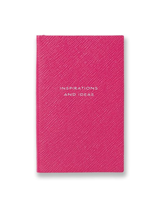 Smythson - Pink Panama Inspirations And Ideas Leather Notebook - Lyst