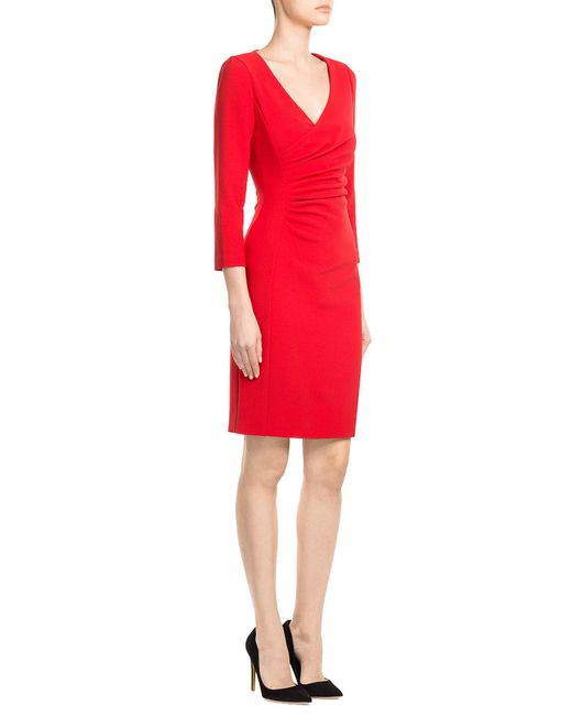 Diane von Furstenberg | Tailored Dress With Gathered Waist | Lyst