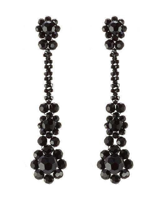Simone Rocha - Black Bead Embellished Earrings - Lyst