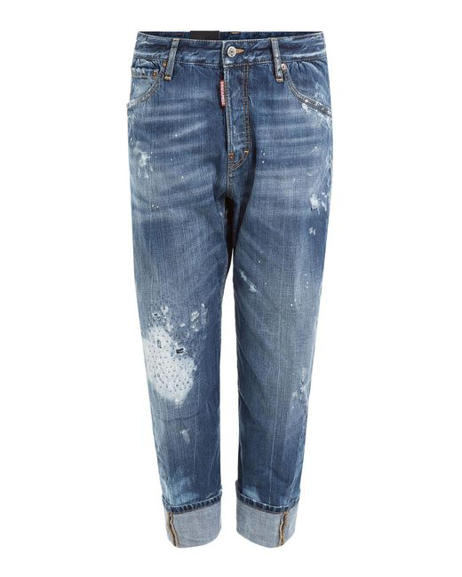 DSquared² - Blue Distressed Jeans for Men - Lyst