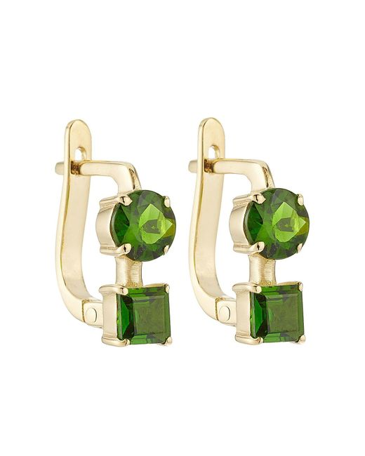 Ileana Makri - Green 18k Yelow Gold Earrings With Chrome Diopside - Lyst