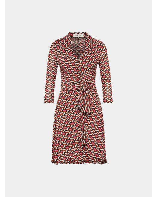 Diane von Furstenberg Pink Kleid im Retro-Look