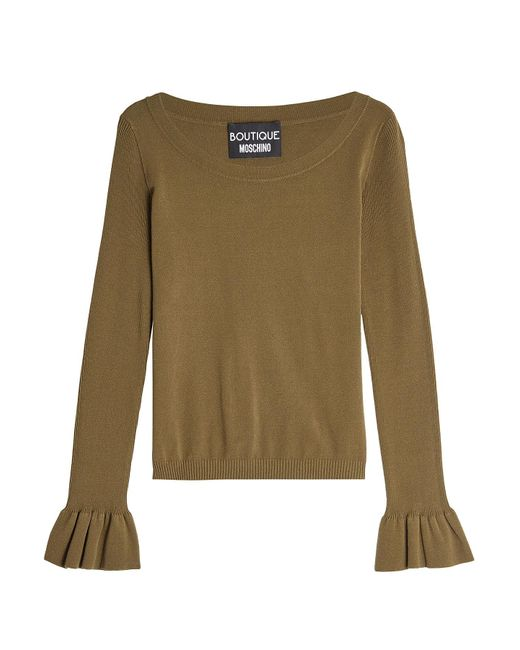 Boutique Moschino - Multicolor Pullover With Statement Cuffs - Lyst