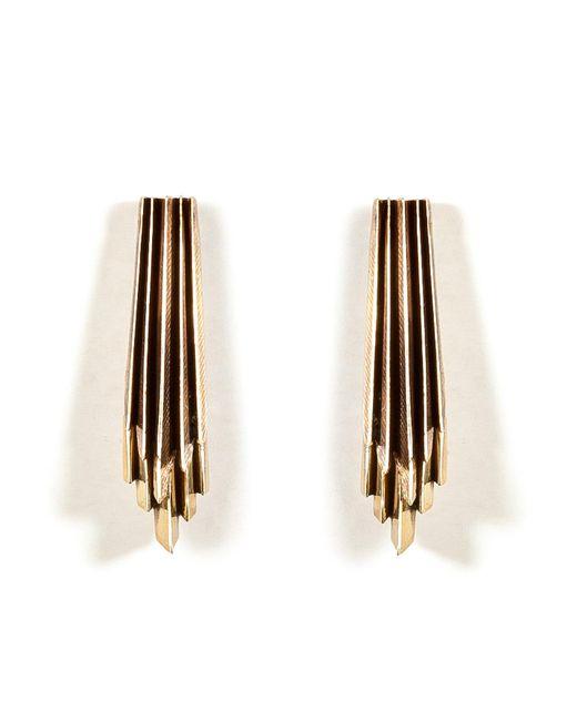 Aesa   Metallic Brass Wind Wake Earrings   Lyst