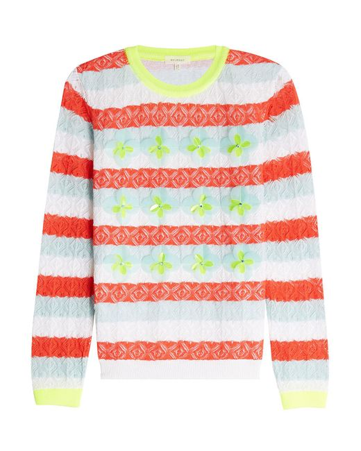 Delpozo - Multicolor Embellished Lace Cotton Pullover - Lyst