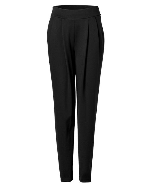 Donna Karan | Pleat Front Pants In Black | Lyst