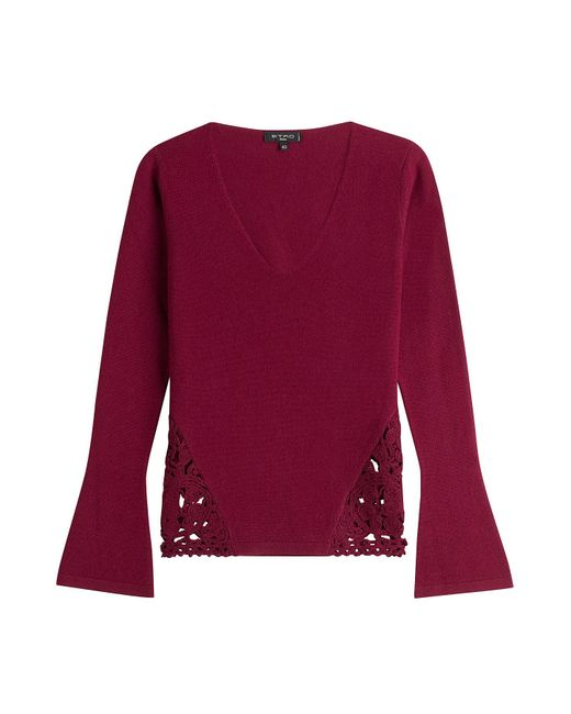Etro - Multicolor Wool-cashmere Blend Pullover - Lyst