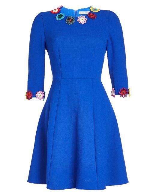 Mary Katrantzou - Blue Wool Dress - Lyst