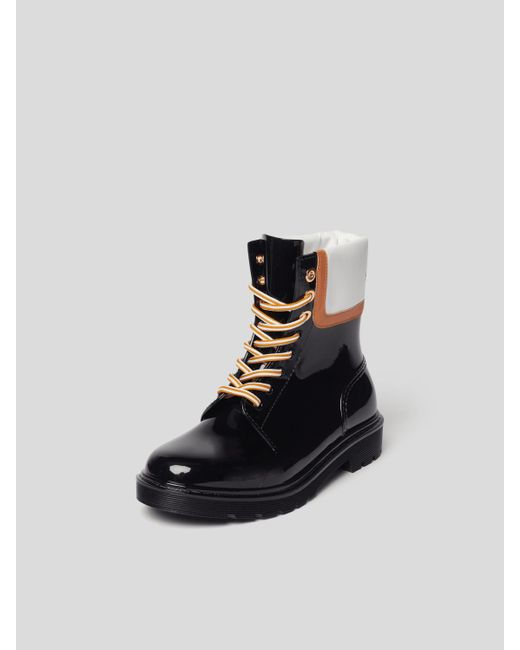 See By Chloé Black Boots mit Brand-Detail