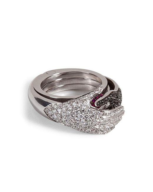 Delfina Delettrez | Metallic Diamond/ruby Secret Hands Ring | Lyst