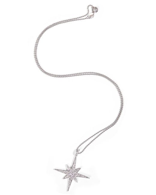 Anita Ko | 18kt White Gold Starbust Necklace With Diamonds | Lyst