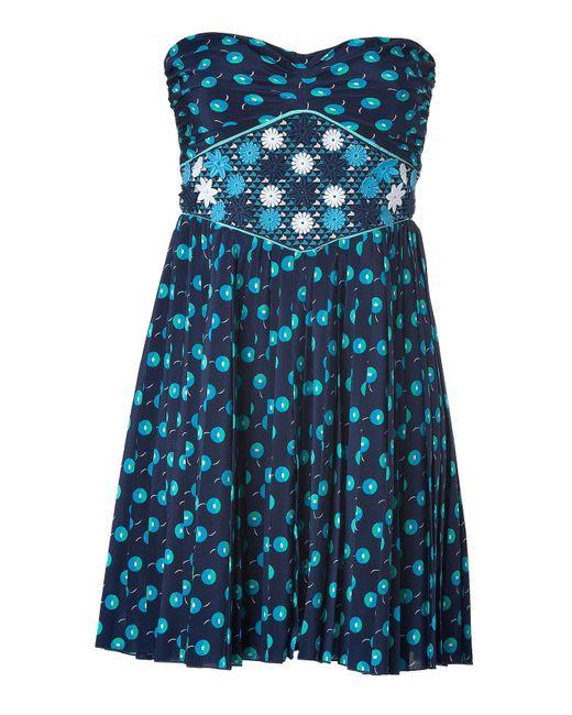 Vanessa Bruno | Blue Strapless Dress | Lyst