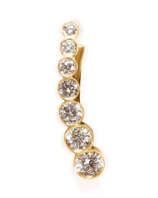Sophie Bille Brahe | Metallic Gold/white Diamond Petite Croissant De Lune Earring | Lyst