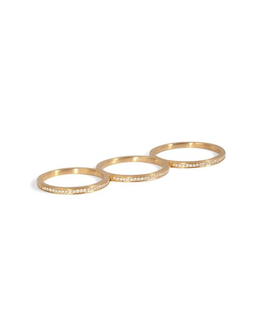 Sophie Bille Brahe | Metallic Gold/diamond Rue De Diamant Triple Ring | Lyst