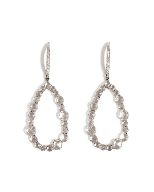 Susan Foster | 14k White Gold Chandelier Earrings With Diamonds | Lyst