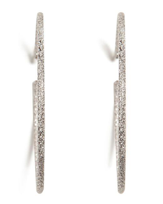 Carolina Bucci | 18k White Gold Medium Sparkly Hoop Earrings | Lyst