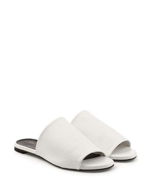 Robert Clergerie - White Leather Slides - Lyst