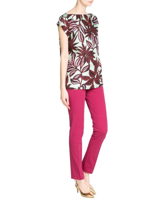 Etro | Pink Stretch Cotton Pants | Lyst