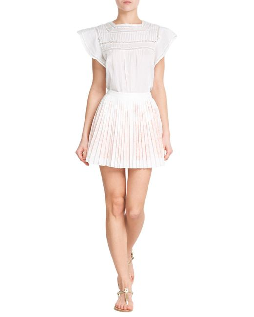 bruno ath 233 pleated mini skirt in white lyst