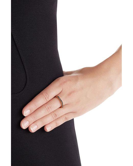 Ileana Makri | Metallic 18kt Yellow Gold Ring With Black Diamonds | Lyst
