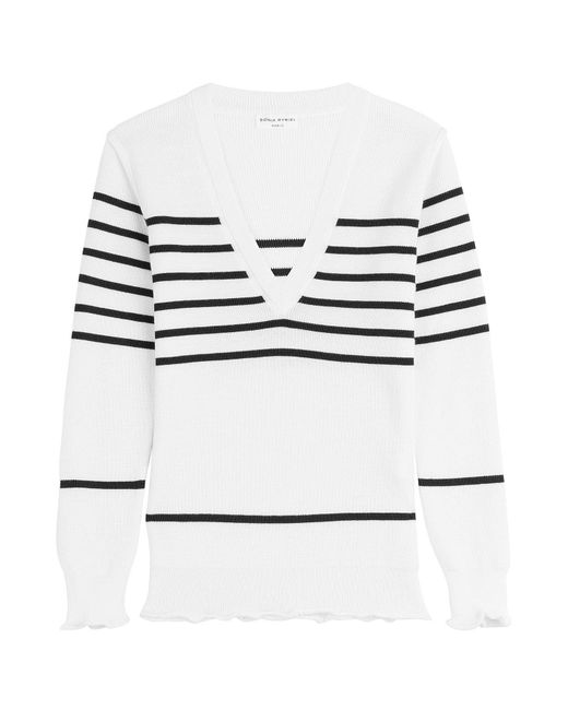Sonia Rykiel - Multicolor Striped Pullover With Wool - Lyst