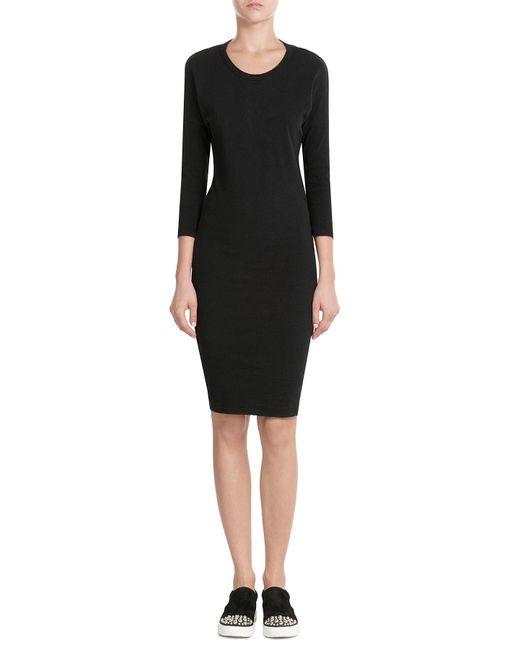 James Perse | Black Cotton Dress | Lyst