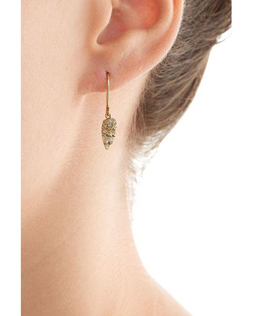Carolina Bucci | Metallic Owls Wing 18k Gold Earrings With Opal | Lyst