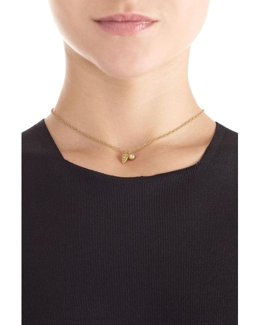 Carolina Bucci | Metallic Owl's Eye & Wing 18k Gold Necklace With Diamond | Lyst