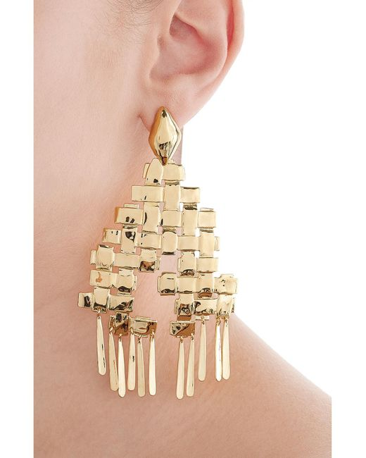 Aurelie Bidermann | Metallic Iroquois 18kt Gold Plated Earrings | Lyst