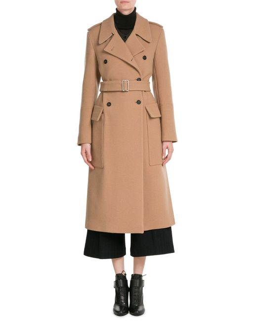 Jil sander Double-breasted Wool Coat in Natural