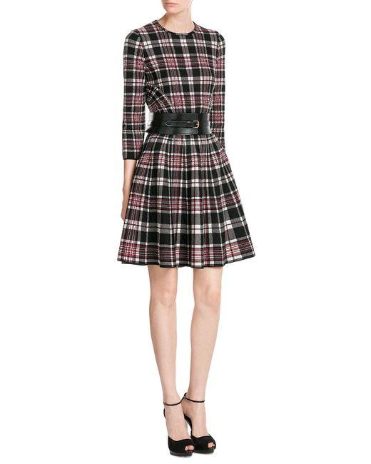Alexander McQueen   Black Tartan Wool Dress   Lyst