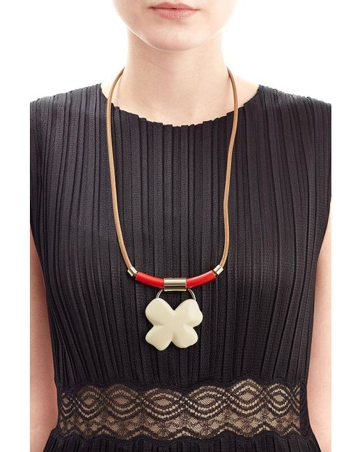 Marni | Brown Pendant Necklace | Lyst