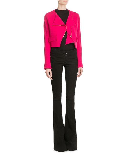 Roland Mouret | Pink Zipped Wool Jacket | Lyst