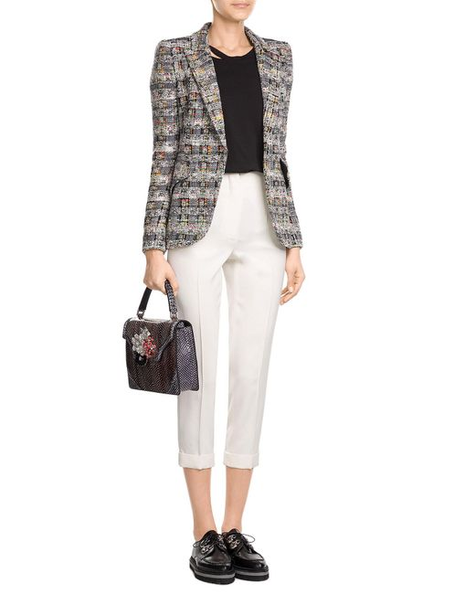 Alexander McQueen | White Cropped Wool Pants | Lyst