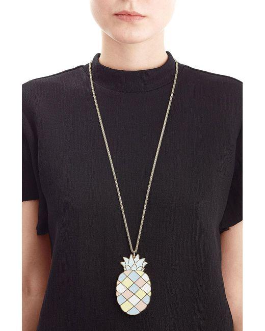 Paul & Joe | Blue Pineapple Pendant Necklace | Lyst