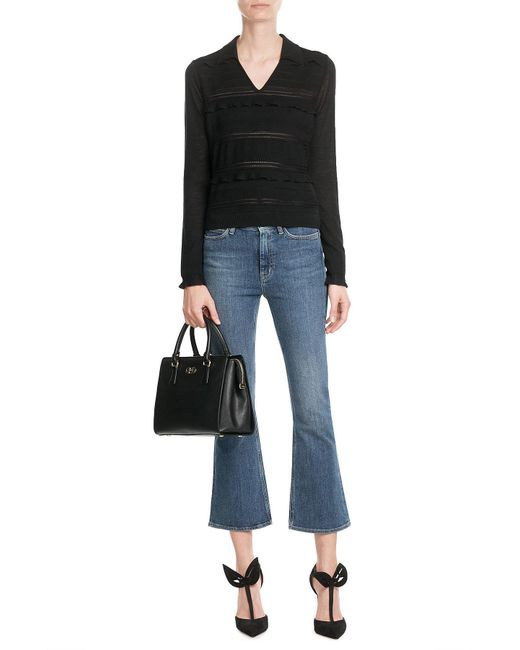 M.i.h Jeans   Blue Marty Cropped Flare Jeans   Lyst