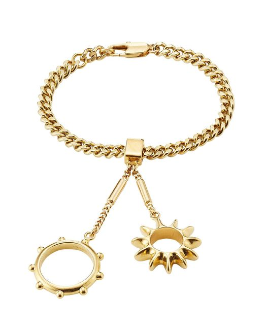 Chloé   Metallic Bracelet With Rings Attached   Lyst