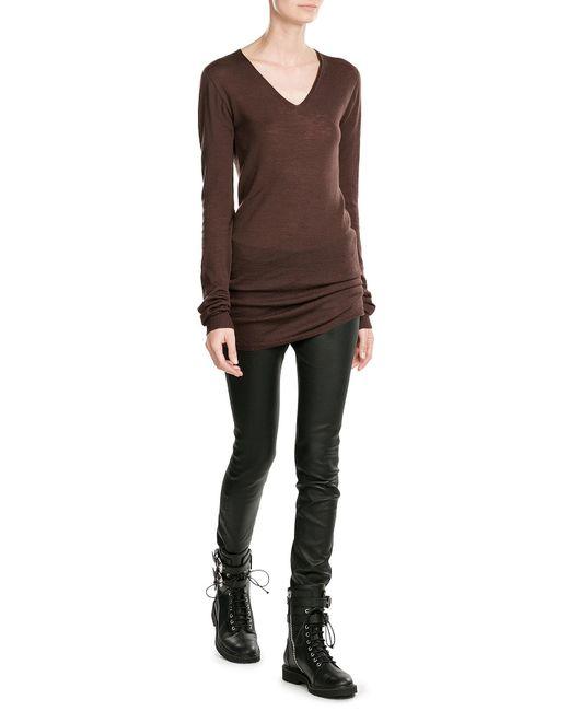 Rick Owens | Brown Virgin Wool Pullover | Lyst